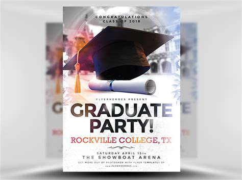 graduation flyer template graduate your flyer designs with these fresh graduation
