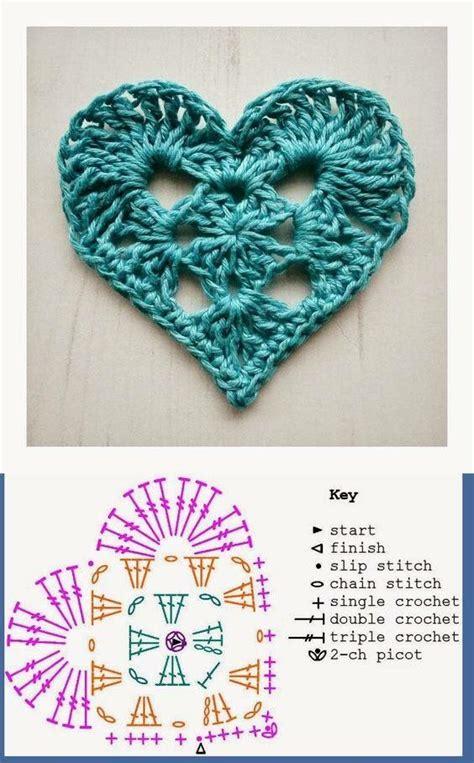 thread pattern en español patr 243 n coraz 243 n a crochet crochet tejido pinterest