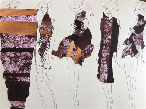 the beautiful jux portfolio of a fashion design student in
