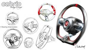 Steering Wheel Design Fiat Uno Cabriolet 2010 Steering Wheel Design Sketch