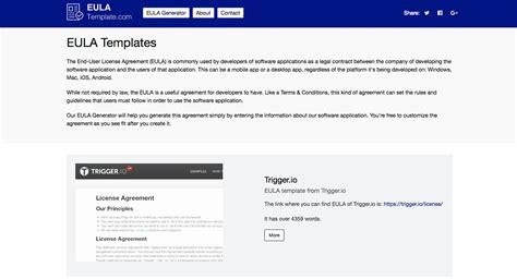 eula template disclaimers template sle eula template
