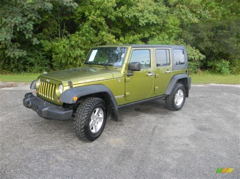 rescue green jeep rubicon 2008 rescue green metallic jeep wrangler unlimited rubicon