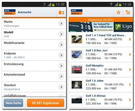 autoscout werkstatt autoscout24 mobile autosuche empfehlung der redaktion