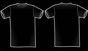 Black Shirt Template by Black T Shirt Front Back Artee Shirt