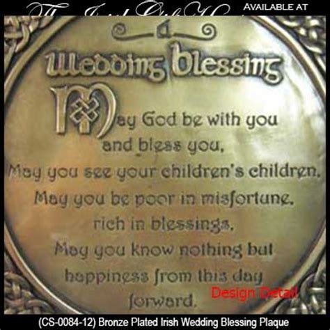Wedding Blessing Presents by Wedding Blessing Plaque Bronze Knots Gifts