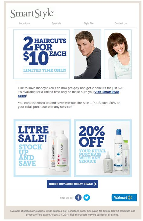 haircut coupons for walmart walmart smart style haircut coupons