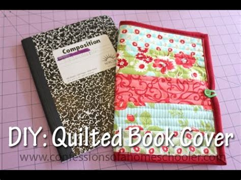 Quilted Book Cover Pattern Free by Quilt As You Go Book Cover