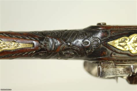 ottoman guns one of a kind pair of large antique ottoman flintlock pistols