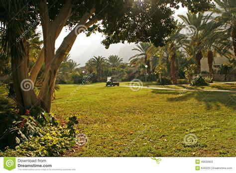 Judean Gardens by Kibutz Ein Gedi Oasis In Judean Desert Israel Stock