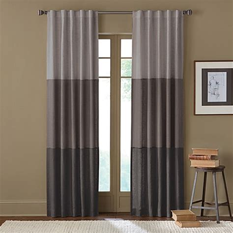 hidden back tab curtains sirocco rod pocket back tab window curtain panel bed