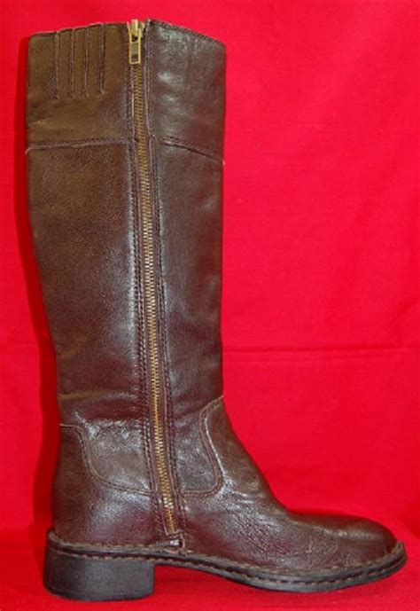 new s born boc brown leather knee high casual