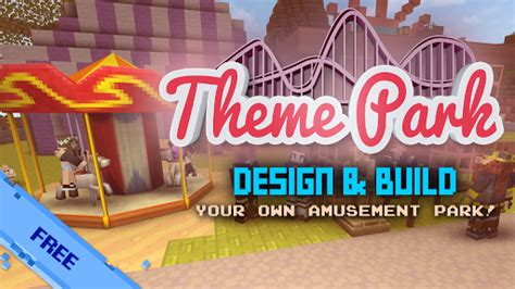 theme park apk mod theme park craft build ride apk mod apk games download