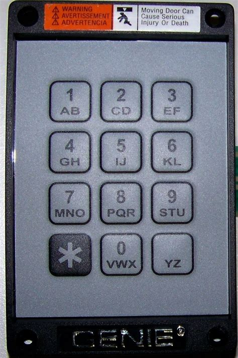 How To Program Genie Garage Door Keypad Programming Genie Garage Door Keypad Program Genie Garage Door Opener Keypad For Model 1