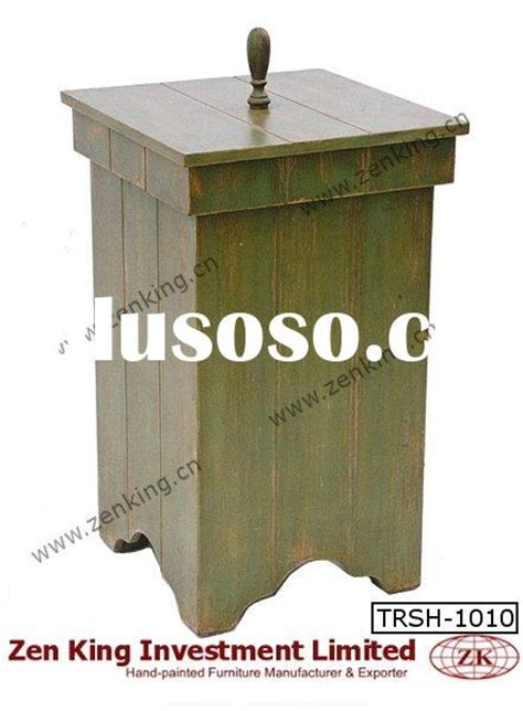 country style trash bin decorative wooden trash bin decorative wooden trash bin