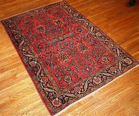 Handcrafted Rugs - antique sarouk handmade rug 1900s for sale at pamono
