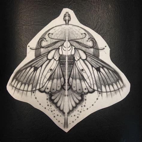 baroque moth tattoo idea by jef small best tattoo ideas