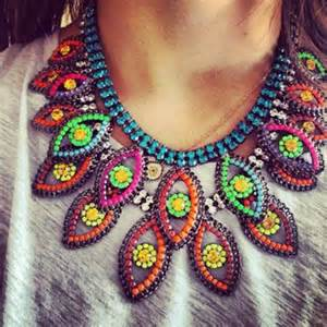 colorful jewelry colorful beaded necklace jewelry