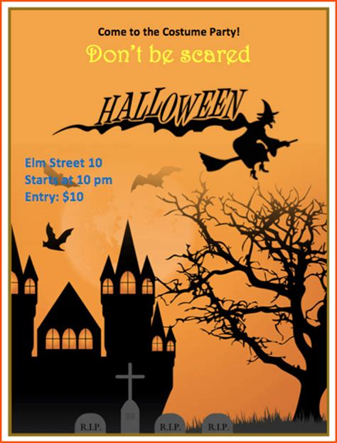 template flyer halloween 7 halloween flyer templates bookletemplate org