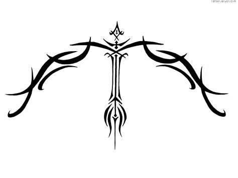 black ink tribal sagittarius tattoo design tattooshunt com