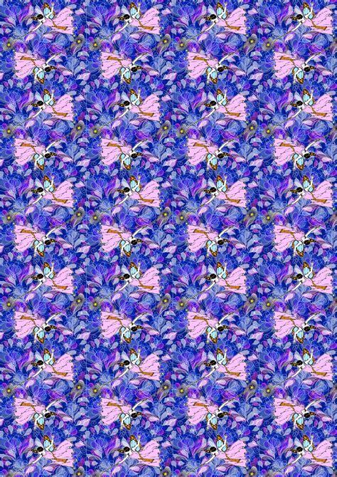 craft paper blue petals 1920s fairies   Rooftop Post