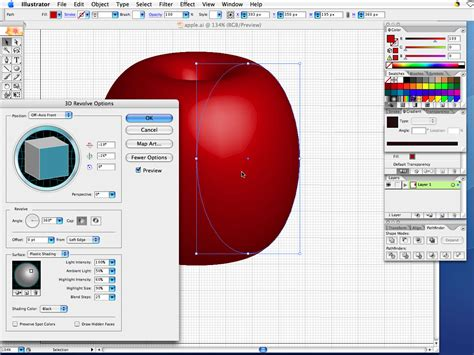 tutorial adobe illustrator adobe illustrator very simple tutorial drawing 3d apple