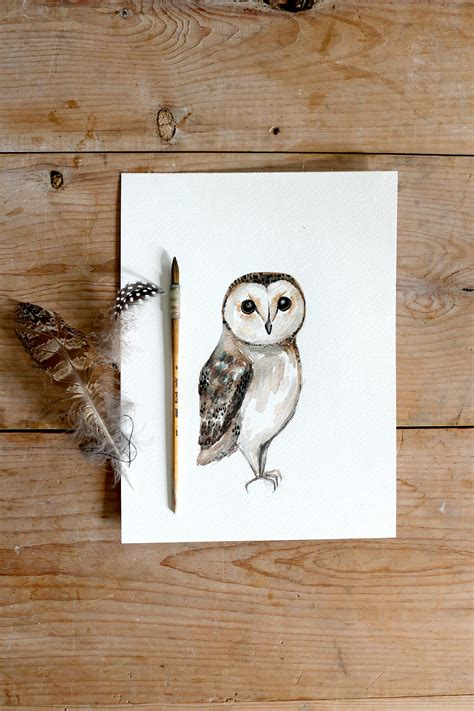 watercolor owl tutorial diy owl painting and sneak peek into christmas collection 2015