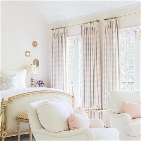 Pink Valances Bedroom White Bedroom With Pink Valance And Curtains Traditional