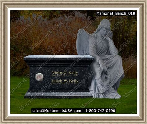 bench headstones gravestones memorial bench 019 memorial benches headstone