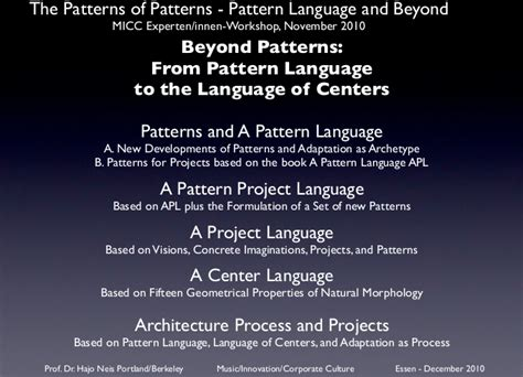 pattern language christopher alexander download a project language a center language in brief