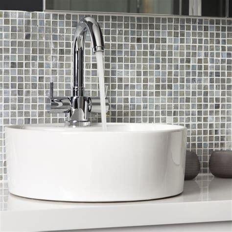 splashback tiles for bathroom mosaic tiled splashback makeover glamorous grey