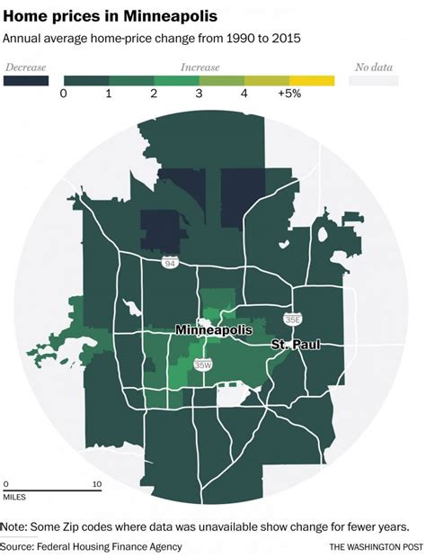map of the day metro housing price changes time