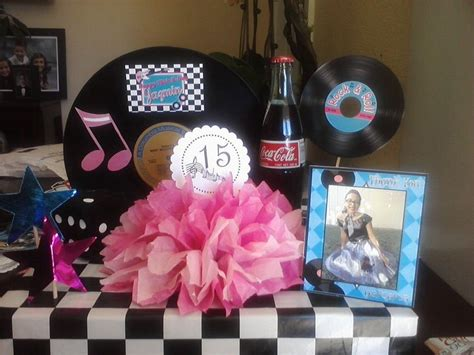 50 s table decorations 511 best cool 50 s theme party images on pinterest
