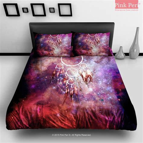 Turquoise Duvet Cover Queen Dream Catcher On Galaxy Nebula Bedding From Pink Peri