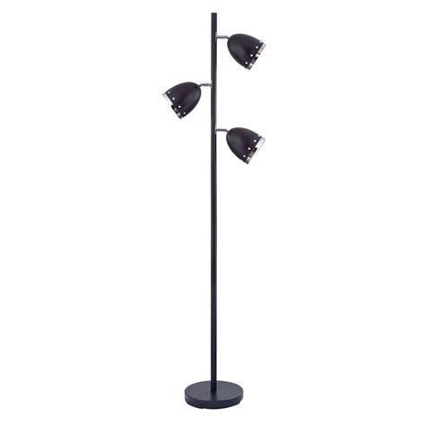matte black 3 light floor l 46192 21 the home depot