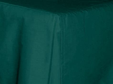dark teal tailored bedskirt for cribs and daybeds and