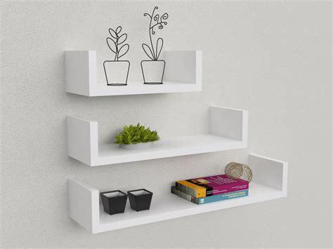 Mensole Moderne Economiche Kit 3 Mensole Design 30 45 60 Cm In Mdf Design Minimale