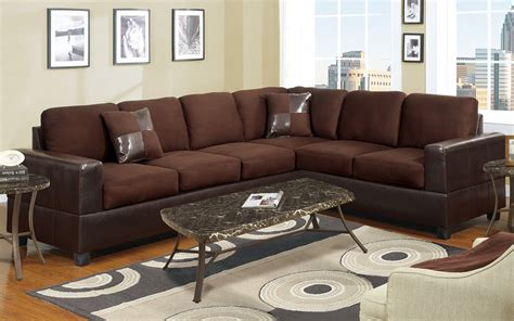 Leather Accent Pillows For Sofa 2 Sectional Sofa W Accent Pillows Microfiber Bonded Leather Brown