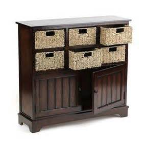 Cabinets With Baskets Brown Storage Wicker Basket Cabinet By Kirklands Olioboard