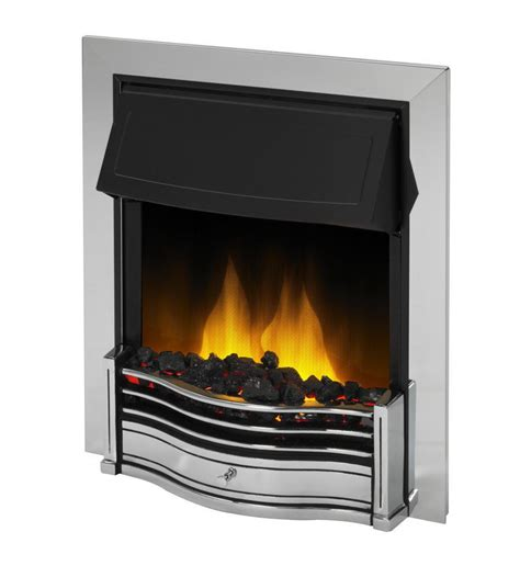 home comforts electric fire dimplex danesbury chrome optiflame 2kw electric inset fire