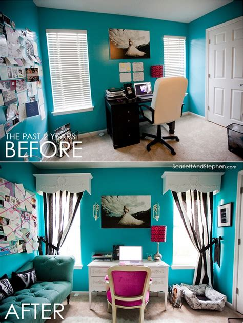 Tiffany Blue Office On Pinterest Pedicure Salon Ideas | cute office makeover college pinterest