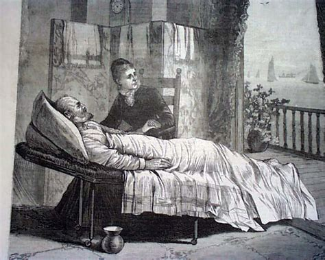 death bed james garfield on his death bed in 1881
