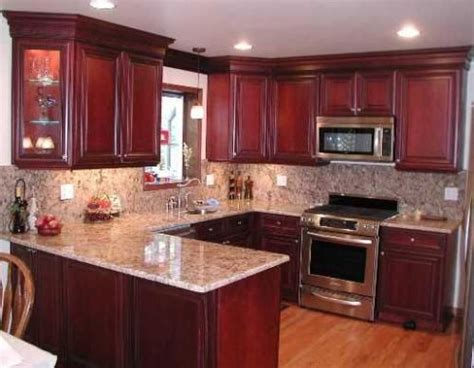 Granite With Cherry Cabinets In Kitchens Steel Grey Granite Countertops And Backsplash With Cherry Cabinets Best Granite For Cherry