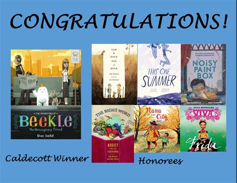 caldecott picture book winners newbery challenging the bookworm