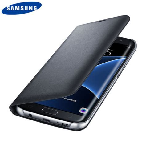 Flip Cover Samsung Galaxy S7 Edge official samsung galaxy s7 edge flip wallet cover black