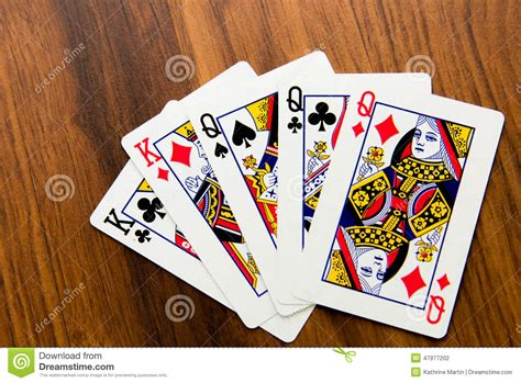 full house cards playing cards full house stock photo image 47977202