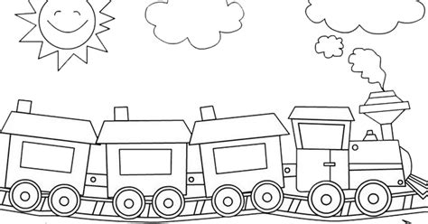 gambar kereta api hitam putih  diwarnai