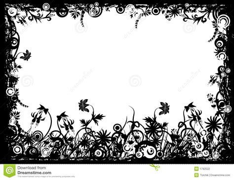 floral grunge frame vector stock vector illustration of illustration 1792578 floral grunge frame vector stock photography image 1792522