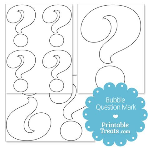 large printable question mark printable bubble question mark printable treats com