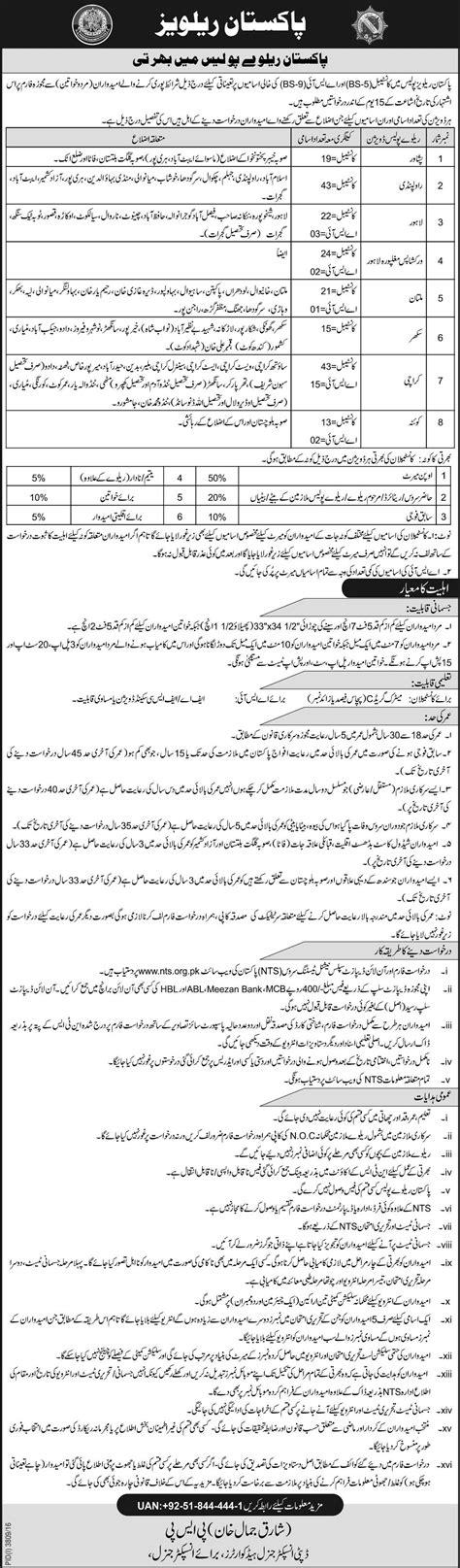 nts test pattern for jobs pakistan railways police constable asi jobs nts written