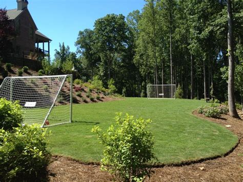 soccer field backyard custom soccer field designed and built by outdoor advantage sports fields